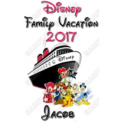 Disney Disneyland Vacation Cruise Personalized Custom T Shirt Iron on Transfer Decal #2 by www.shopironons.com
