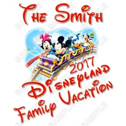 Disney Disneyland Vacation Cruise Personalized Custom T Shirt Iron on Transfer Decal #22
