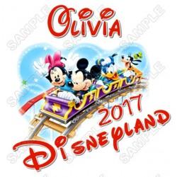 Disney Disneyland Vacation Cruise Personalized Custom T Shirt Iron on Transfer Decal #33