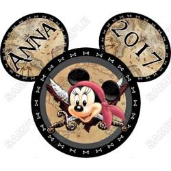 Disney World Disneyland Vacation Minnie Mouse Custom Personalized T Shirt Iron on Transfer Decal #39