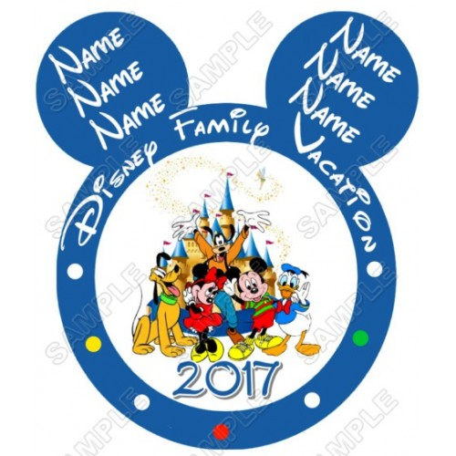 Disney World Disneyland Vacation Personalized Custom T Shirt Iron on Transfer Decal #1 by www.shopironons.com