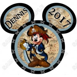 Disney World Vacation Minnie Mouse Pirate Custom Personalized T Shirt Iron on Transfer Decal #32