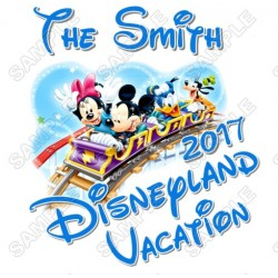 Disney World Vacation Pirate Custom Personalized T Shirt Iron on Transfer Decal #43