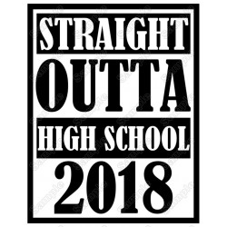 STRAIGHT OUTTA Personalized Custom Text T Shirt Iron on Transfer Decal #1
