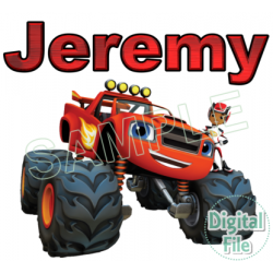 Blaze and the Monster Machines Custom Personalized Digital Iron on Transfer (DIGITAL FILE ONLY!) #19