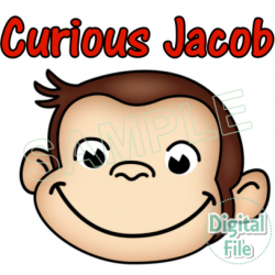 Curious George Custom Personalized Digital Iron on Transfer (DIGITAL FILE ONLY!) #18