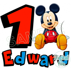 Mickey Mouse Custom Personalized Digital Iron on Transfer (DIGITAL FILE ONLY!) #16