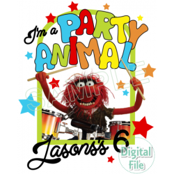 MUPPETS SESAME STREET PARTY ANIMAL Custom Personalized Digital Iron on Transfer (DIGITAL FILE ONLY!) #20