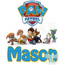 Paw Patrol Custom Personalized Digital Iron on Transfer (DIGITAL FILE ONLY!) #5
