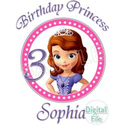 Sofia the First Custom Personalized Digital Iron on Transfer (DIGITAL FILE ONLY!) #15