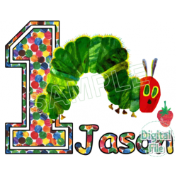 The Very Hungry Caterpillar Custom Personalized Digital Iron on Transfer (DIGITAL FILE ONLY!) #10