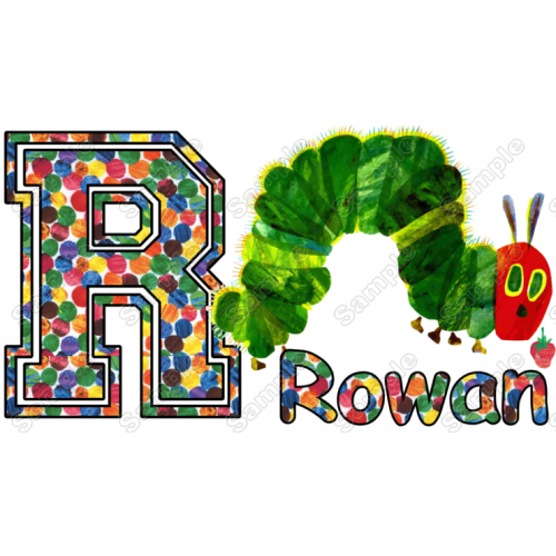 Hungry Caterpillar Birthday Personalized Custom T Shirt Iron on Transfer Decal #23 by www.shopironons.com