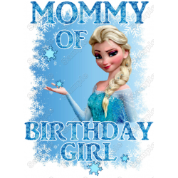 Frozen Family Member Birthday T Shirt Iron on Transfer Decal by www.shopironons.com