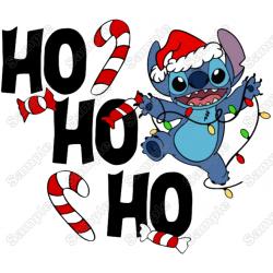 Lilo & Stitch Christmas T Shirt Iron on Transfer Decal #1A
