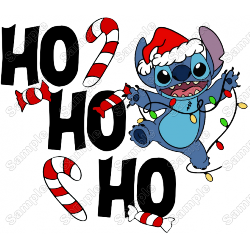 Lilo & Stitch Christmas T Shirt Iron on Transfer Decal #1A by www.shopironons.com