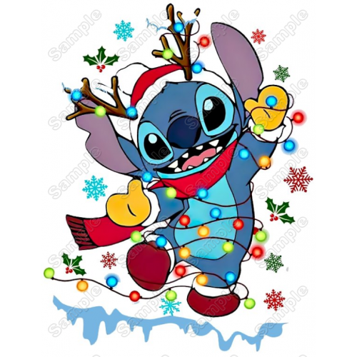 Lilo & Stitch Christmas T Shirt Iron on Transfer Decal #2A by www.shopironons.com
