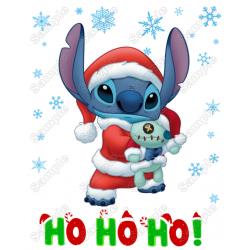 Lilo & Stitch Christmas T Shirt Iron on Transfer Decal #3A