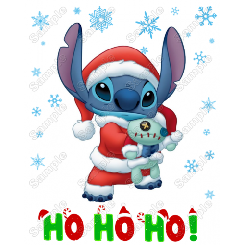 Lilo & Stitch Christmas T Shirt Iron on Transfer Decal #3A by www.shopironons.com
