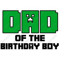 Minecraft Birthday Family Member Custom T Shirt Iron on Transfer Decal