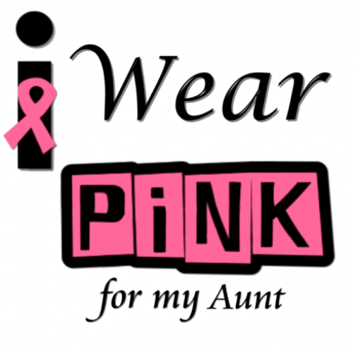 Breast Cancer Awareness ~I Wear Pink for my Aunt~ T Shirt Iron on Transfer Decal #11 by www.shopironons.com