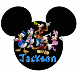 Disney Vacation Mickey Mouse Pirate Personalized Custom T Shirt Iron on Transfer Decal #28