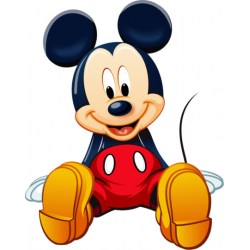 Mickey Mouse T Shirt Iron on Transfer Decal #9