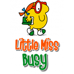 Mr Men and Little Miss Busy T Shirt Iron on Transfer Decal #25