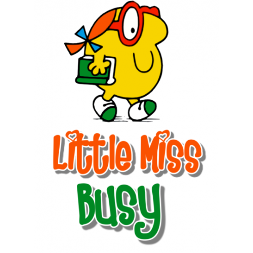 Mr Men and Little Miss Busy T Shirt Iron on Transfer Decal #25 by www.shopironons.com