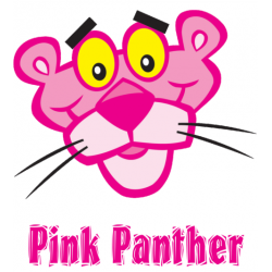 Pink Panther T Shirt Iron on Transfer Decal #5