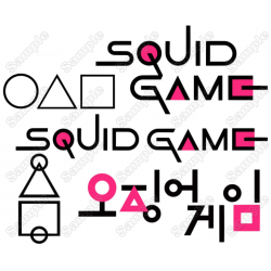 Squid Game T Shirt Iron on Transfer Decal #2