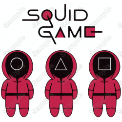 Squid Game T Shirt Iron on Transfer Decal #3