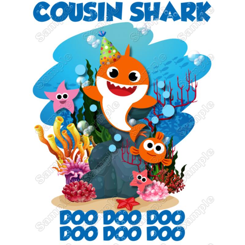 THANKSGIVING SHARK:::::::::::::BABY SHARK  T-SHIRT IRON ON TRANSFER