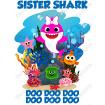 Baby Shark Family Member T Shirt Iron on Transfer Decal by www.shopironons.com