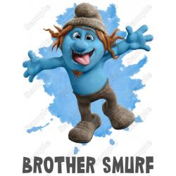 Smurf Borther Family Member Birthday Custom T Shirt Iron on Transfer Decal by www.shopironons.com