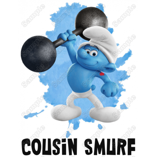 Smurf Cousin Family Member Birthday Custom T Shirt Iron on Transfer Decal by www.shopironons.com