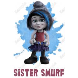 Smurf Sister Family Member Birthday Custom T Shirt Iron on Transfer Decal by www.shopironons.com