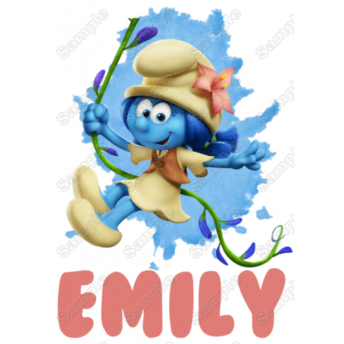 Smurf Lily Custom Name T Shirt Iron on Transfer Decal by www.shopironons.com
