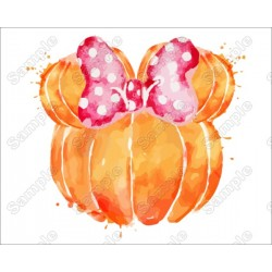 Pumpkin Fall Mickey Mouse T Shirt Iron on Transfer Decal
