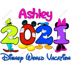 Disney World Vacation Cruise Personalized Custom T Shirt Iron on Transfer Decal #4