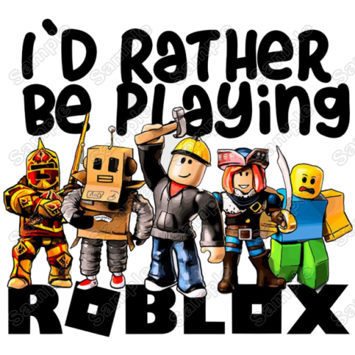 Roblox T Shirt Iron on Transfer Decal #1 by www.shopironons.com