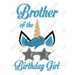 Unicorn Birthday Choose Family Member T Shirt Iron on Transfer by www.shopironons.com