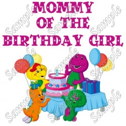 Barney Mommy of the Birthday Girl Personalized Custom T Shirt Iron on Transfer Decal