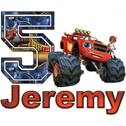 Blaze and the Monster Machines Custom Personalized T Shirt Iron on Transfer