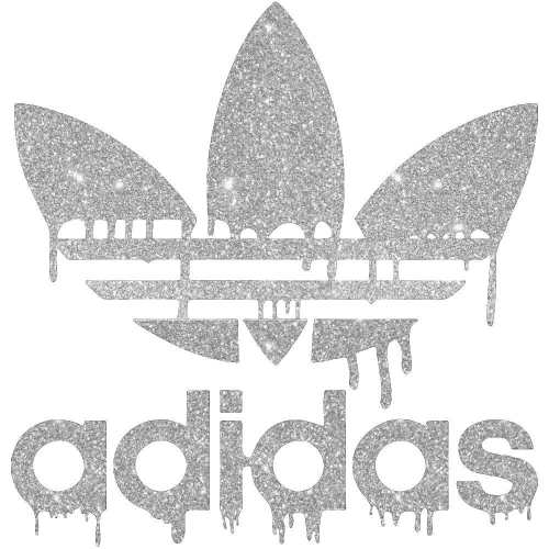 Adidas Logo Iron On Heat Transfer Vinyl HTV by www.shopironons.com
