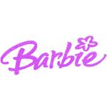 Barbie Iron On Logo Heat Transfer Vinyl HTV Glitter by www.shopironons.com