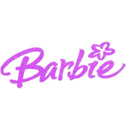 Barbie Iron On Logo Heat Transfer Vinyl HTV Glitter