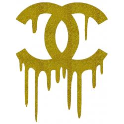 CHANEL Dripping Logo Iron On Heat Transfer Vinyl HTV