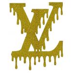 Louis Vuitton Dripping Logo Iron On Heat Transfer Vinyl HTV by www.shopironons.com