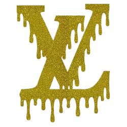 Louis Vuitton Dripping Logo Iron On Heat Transfer Vinyl HTV