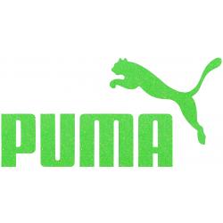 Puma Iron On Logo Heat Transfer Vinyl HTV Glitter